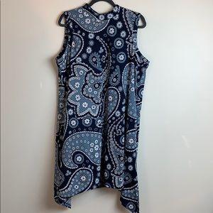 ECI Blue Paisley Dress